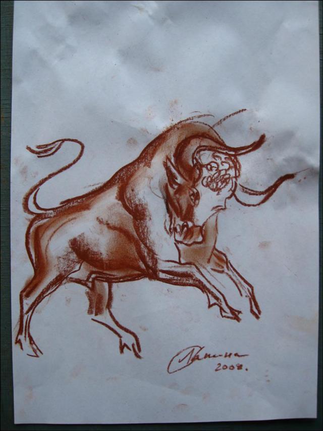 Эскиз быка